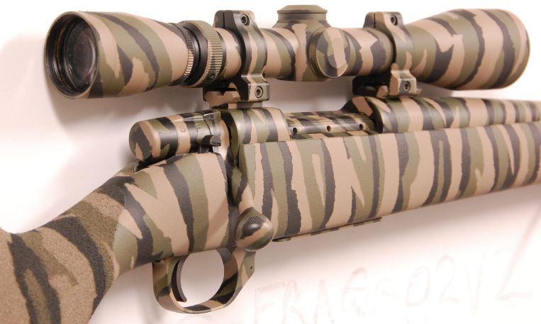 Aussiehunter camouflaged hunting rifle