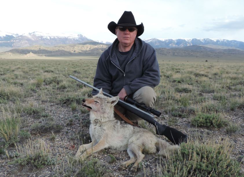 aussiehunter Sonny with Coyote shot in NW Wyoming with 25-06 and 100 gr Sierra