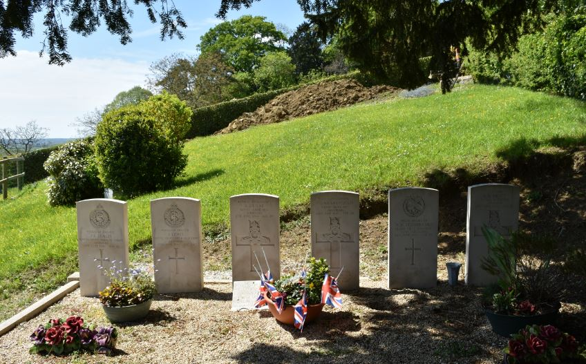 D-Day-casualties-buried-at-Brucourt-in-France