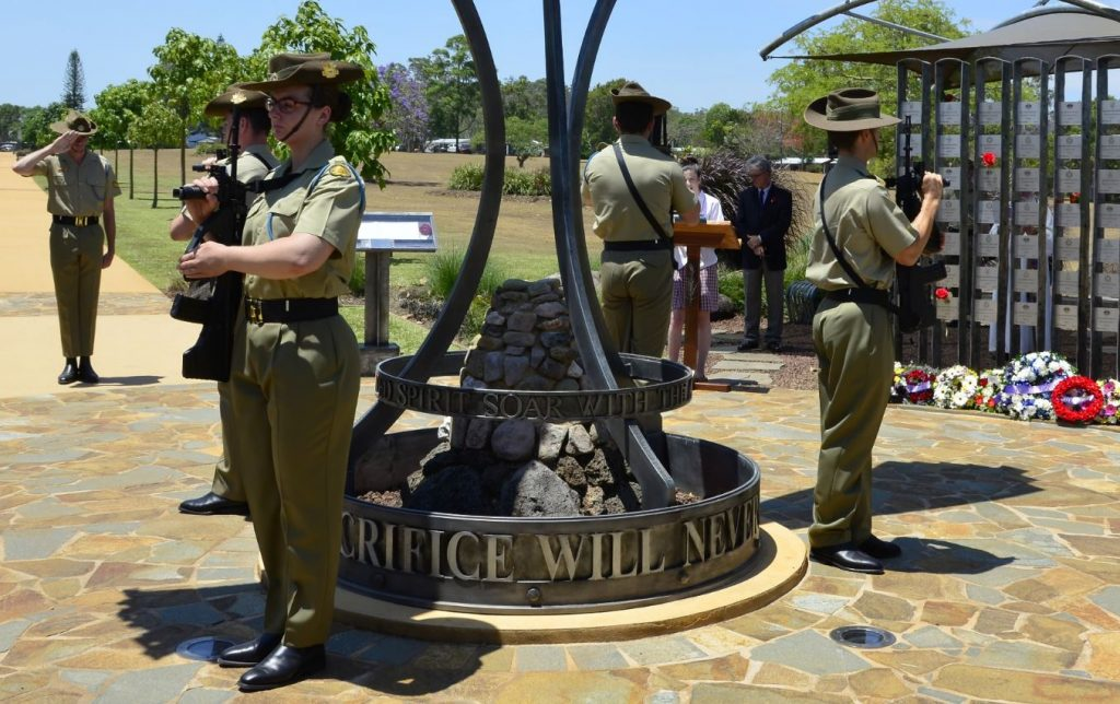 Catafalque party at Yungaburra Remembrance Day 2016