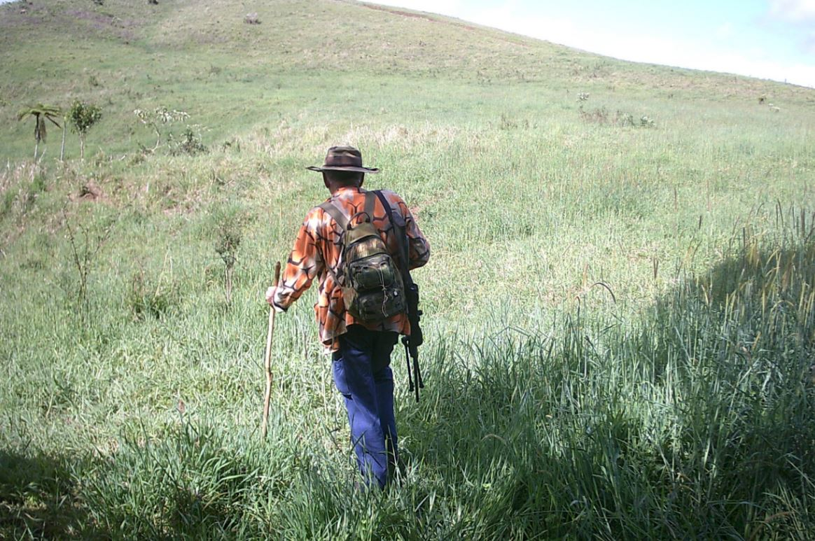 A rifle and light backpack is all the gear you need for game stalking